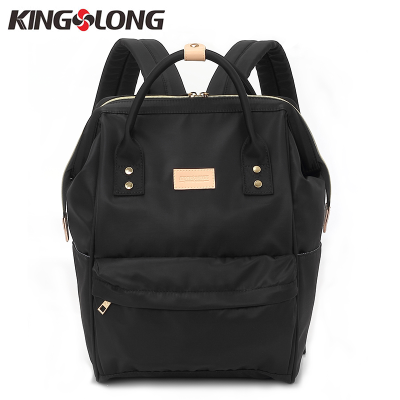 Kingslong Women''s Backpack Student College Water Repellen Nylon Bag Mochila Quality Laptop Bag School Backpack Klb1453-4