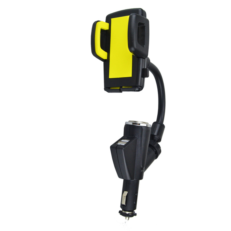 Universal <font><b>Charger</b></font> Cigarette Lighter Dual USB Car <font><b>charger</b></font> Mount <font><b>Stand</b></font> phone holder for mobile phones, PDA, MP3, GPS