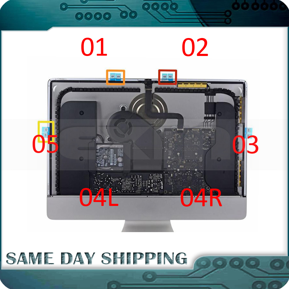 Original NEW for Apple iMac A1418 21.5 LCD Display Screen Stickers Adhesive Strip Tape Glue Repair kit 2012 2013 2014 2015 2017 new for imac 21 5 a1418 lcd display screen w front glass assembly lm215wf3 sd d1 661 7109 661 7513 661 00156 2012 2015 year