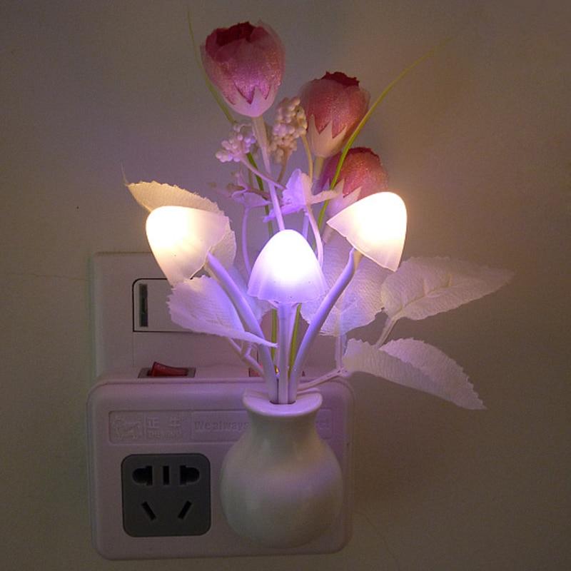 1 Pcs Flowers Bedroom Decor Light Sensation Led Bed Night Light Night Lamp Newst