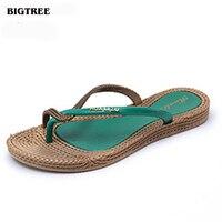 BIGTREE 2017 Summer Style Women Flip Flops Women Sandals  Flip Slippers Beach Shoes 6.7 LAG