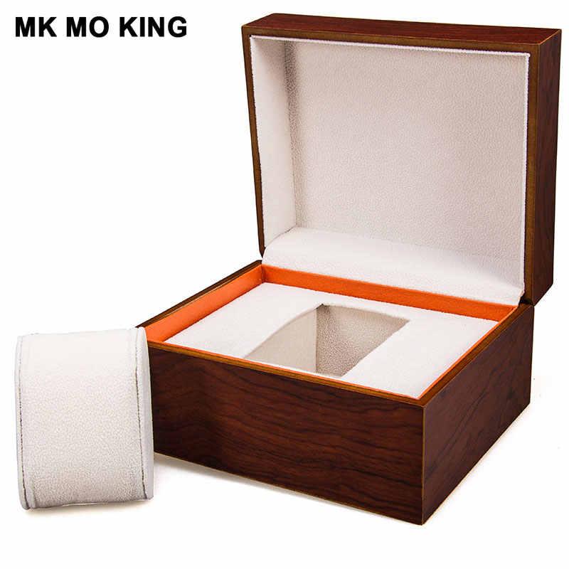 العلامة التجارية الفاخرة هدية صندوق ل dw رولكس كارتييه تيسو أوميغا لونجين بانيراي IWC AP الرجال المرأة سوار ساعة خشب متين صندوق