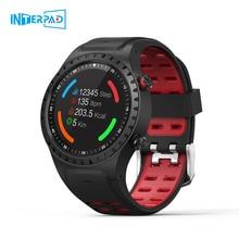 Interpad M1 GPS inteligentny zegarek mężczyźni wodoodporny Bluetooth wybierania połączeń pulsometr wielu Sport Smartwatch dla Apple Huawei Xiaomi