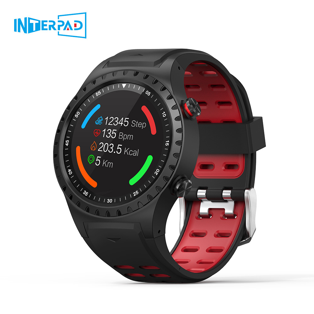 Interpad <font><b>M1</b></font> GPS Smart <font><b>Watch</b></font> Men Waterproof Bluetooth Dial Call Heart Rate Monitor Multi Sport Smartwatch for Apple Huawei Xiaomi image