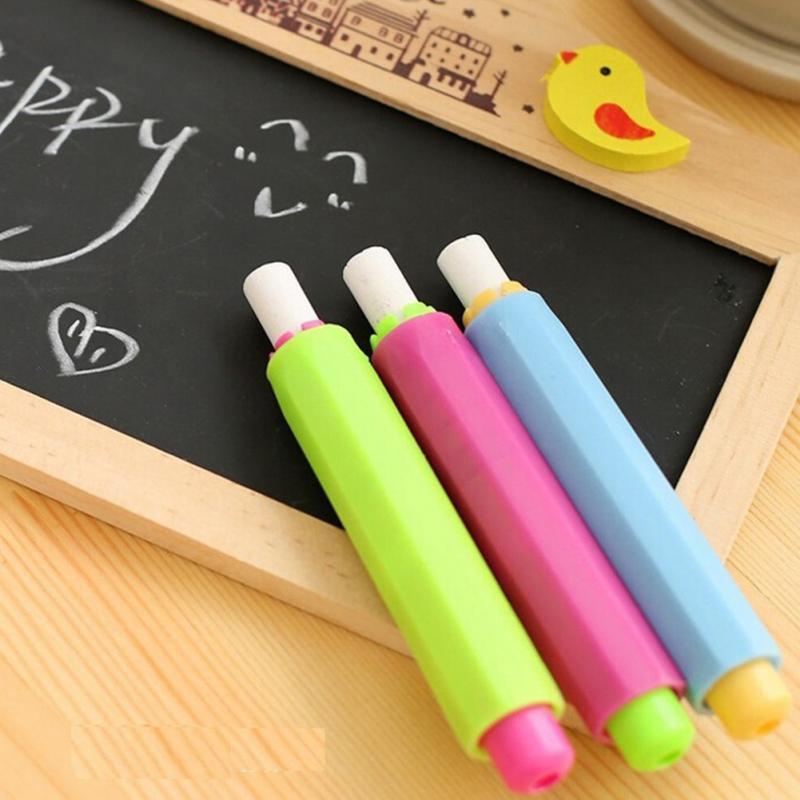 Chalk Sleeve Holders Teaching For Children Home Education On Board Stationery Environmental Chalk Sleeve Random Color #0803