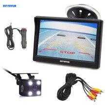 DIYSECUR 5 pollici Display LCD di Retrovisione Dell'automobile del Monitor + Filo Impermeabile Reverse Backup Videocamera per auto LED di Visione Notturna Sistema di Parcheggio