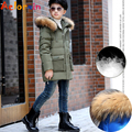 Warm Duck Down Parkas Jackets Boys Winter Jackets Fur Hooded Down Coats for Boys Thicken Outerwear 9 10 12 14 15 Year 2017 New