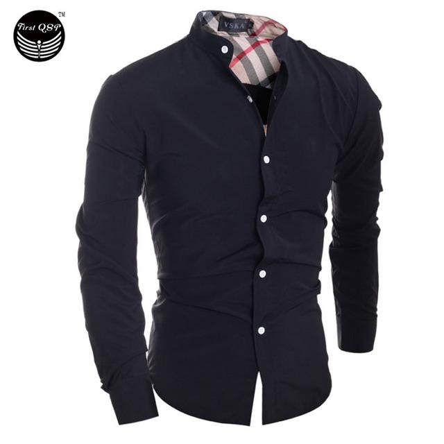 2017 Hombres de La Manera Camisa de Los Hombres de Costura A Cuadros Clásicos Camisa Masculina de Manga Larga Camisa Masculina Camisas de Los Hombres Camisa XXL IYWHE
