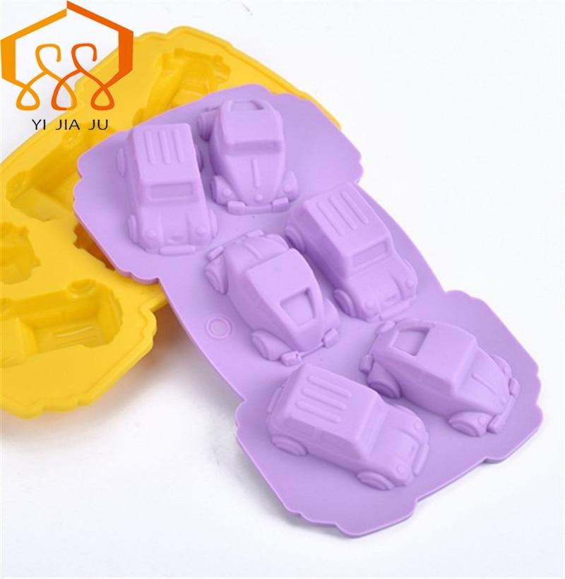 3D Car Baking Tools Kök Köksartiklar Silikonform Gitarr Ice Cube DIY Cake Tool Gratis frakt