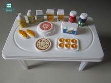 mini flaskbarwareimulering mat för BJDSD docka hus tillbehör leksak
