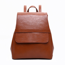 2016 Hot Sale Oil Wax Leather Backpack Vintage Rucksack WomenHigh Quality Drawstring Backpack School Bags For Girls Travel Bag