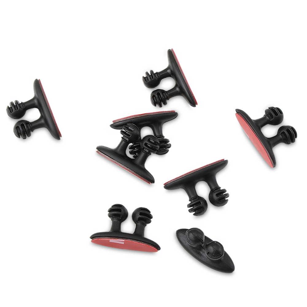 8 pièces Chargeur De Voiture Ligne Pince Pince Casque/USB Câble Clip De Voiture Pour Volkswagen VW Golf 5 6 7 PASSAT B5 B6 B7 B8 MK4 MK5 MK6