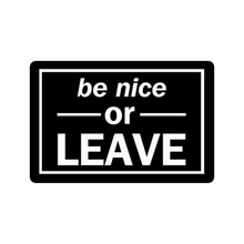 Humorous Funny Saying & Quotes:Be Nice or Leave Machine-washable Doormat Mat