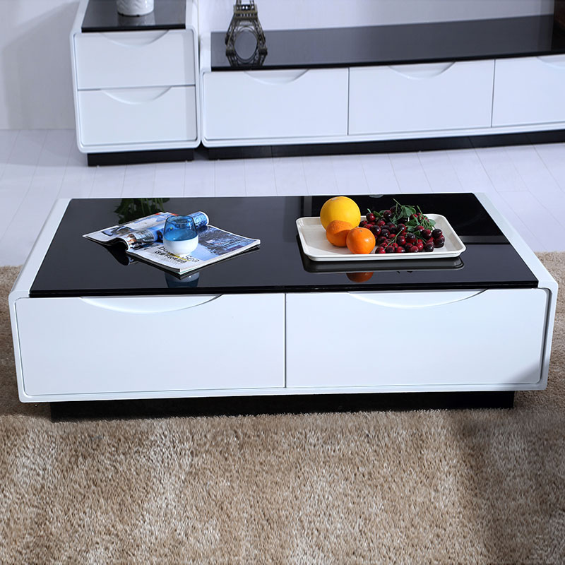 Small Tempered Glass Coffee Table: Tempered Glass Coffee Table Combination Living Room Small