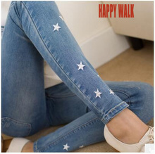 Brand Elastic Waist Maternity Clothes Fashion Jeans Pants For Pregnancy Little Stars Embroidery Trousers Pant For Pregnant Women