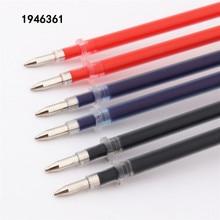 Высокое качество 10 шт Черный Синий Красный чернильный стержень сменный гелевый ручка пуля 0,5 мм перо чернильный картридж школьные студенческие офисные канцелярские принадлежности