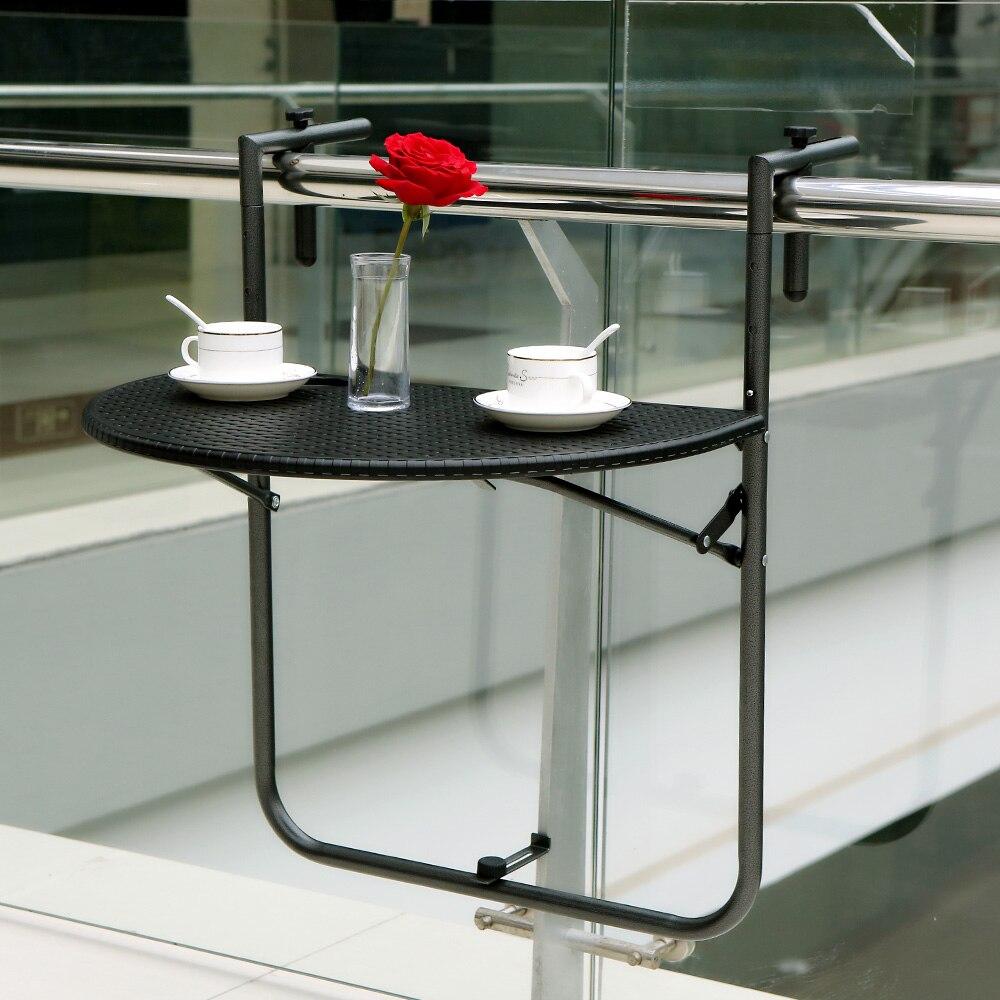 Aliexpress Com Buy IKayaa Folding Balcony Deck Table Adjustable