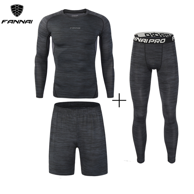 Compression Men's Sport Suits Quick Dry Running sets