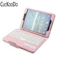 CucKooDo Ultra Slim Detachable Bluetooth Keyboard Portfolio Leather Case Cover For Samsung Tab S2 8 0