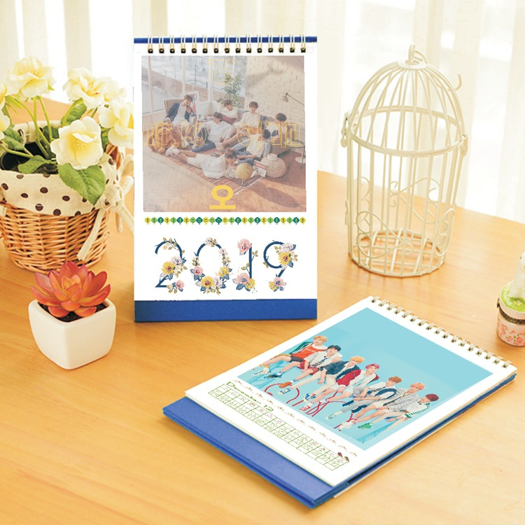 1Pcs K-pop BTS Bangtan Boys 2019 Desk Calendar Mini Picture Photo Album Jungkook Calendar Collection Gift BTS Desk calendar