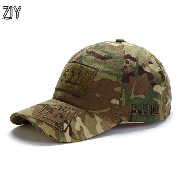 770f0431e US $6.4 31% OFF Camouflage baseball cap unisex 511 tactical army outdoor  quick dry done snapback camo fishing hiking casual trucker dad cap hat-in  ...