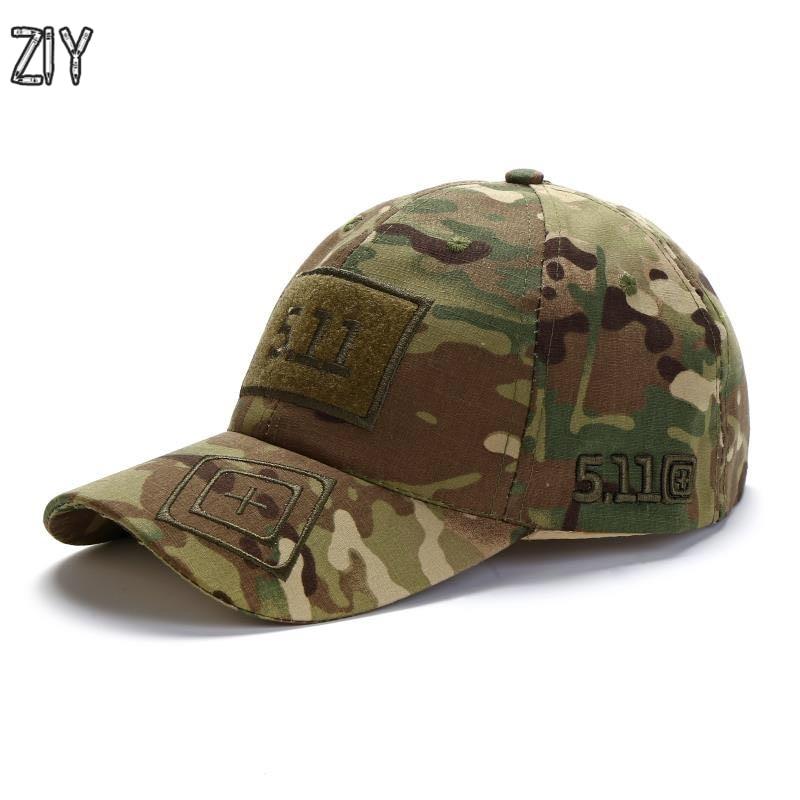 Camouflage baseball cap unisex 511 taktische armee freien schnelle trockene durchgeführt hysterese camo angeln wandern casual trucker papa kappe hut