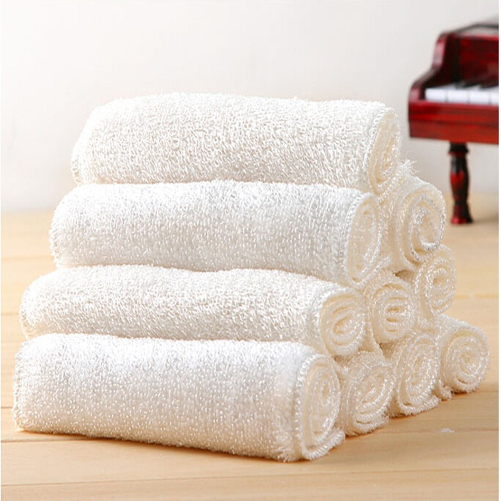 Tl High Efficient Anti Greasy Bamboo Fibre Wash Cloth Dishcloth Clean Towel Magic Kitchen Washing Cleaning Scouring Pad In Cloths From Home