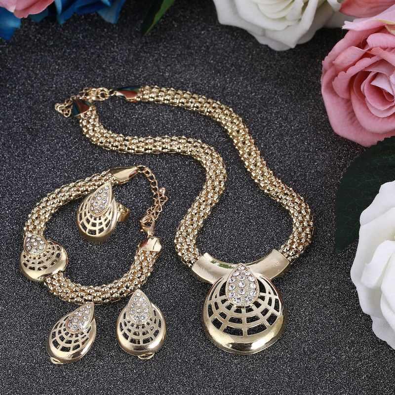 Conjunto de joyas con cuentas africanas ZOSHI, conjunto de joyas de boda nigeriana 2019, conjunto de collar de novia Vintage de Dubai, 4 piezas, joyería