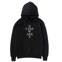 NUEST W Album WAKE N Periphery Support Jacket Same paragraph Men and women hoodie Loose Autumn Spring Winter Sweatshirt