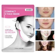EFERO Compact V Face Mask Bandage Face Lift Tool Chin Cheek Lift Up Slimming Mask Beauty Face Shaper Anti Aging Moisturizing