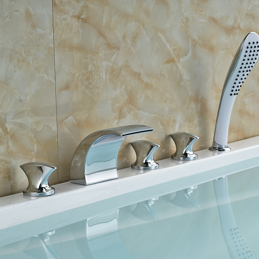 Wholesale And Retail Promotion Deck Mounted Waterfall Bathroom Tub ...