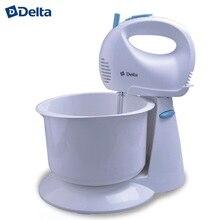 """Миксер DELTA DL-5067С с чашей белый с голубым: мощность 300 Вт, 5 скоростных режимов,режим """"Турбо"""""""