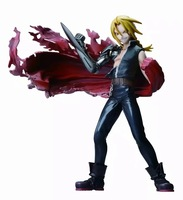 Fullmetal Alchemist Edward Elric Figure Alphonse Elric Roy Mustang FA Flame Figure 220MM PVC Kids Toys Model Doll Toy Gift