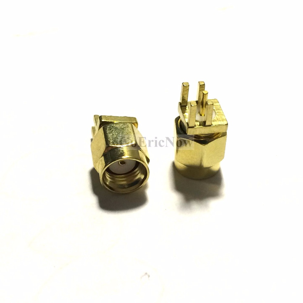 1 Pc Adapter SMA Male to SMA Male Plug RF Connector Straight Gold Plated HK