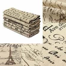 50X80CM Cotton Linen Pattern Fabric DIY Doll Materials Craft Patchwork Cloth For Home Garden Sewing Handmade DIY Supplies