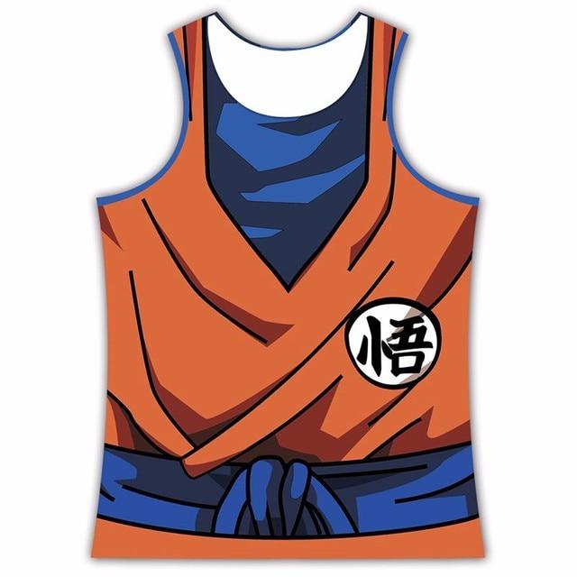 Dragon Ball Z Vegeta Goku Tank Tops