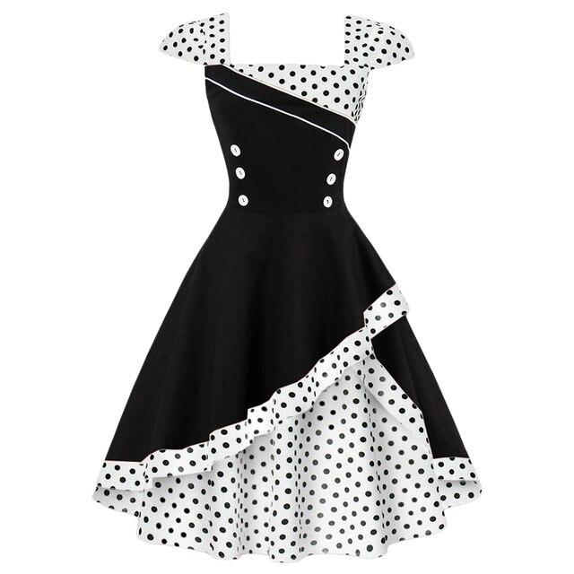 15aab1d8f0271 Wipalo Plus Size S-4XL Women Vintage Dress Rockabilly Feminino Robe Vestidos  Hepburn 50s 60s