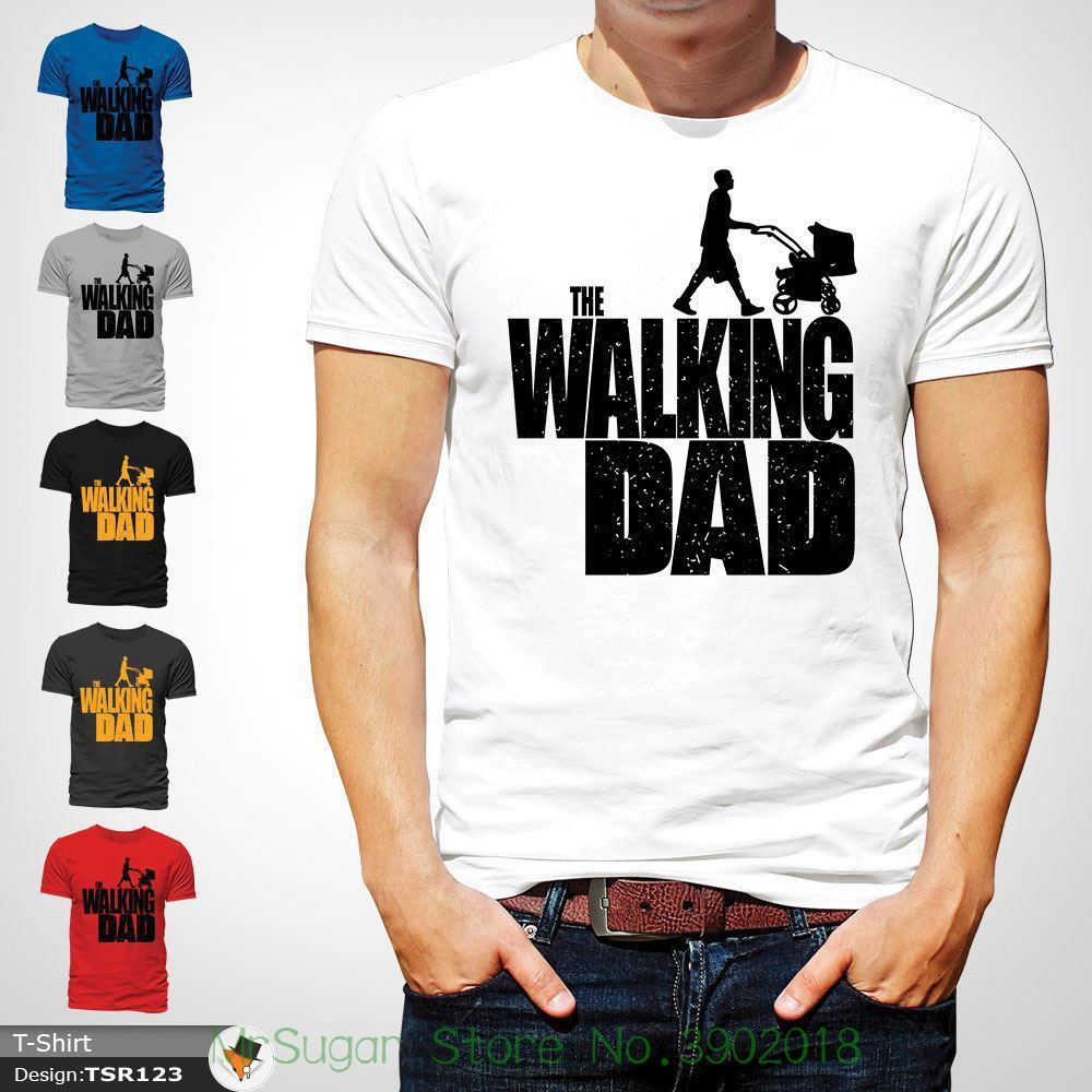 The Walking Dad Parody Father Son Fathers Day Mens Tshirt Christmas Xmas White ! Print T-shirt Men Summer Style