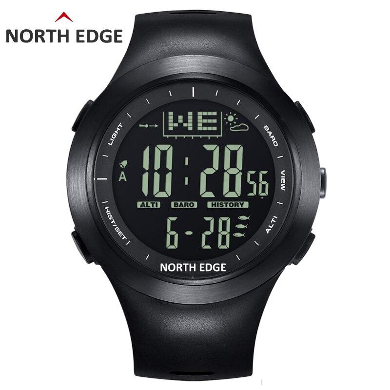 NORTHEDGE для мужчин винтажные часы Открытый часы Рыбалка погода альтиметр барометр термометр высота восхождение пеший Туризм часов