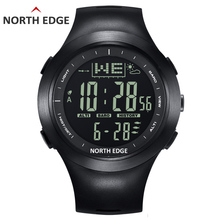 NORTHEDGE Men Digital watches outdoor watch clock Fishing weather Altimeter Barometer Thermometer Altitude Climbing Hiking hours цены