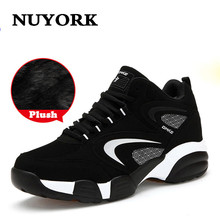 NUYORK Fashion male Outdoor Lace-up sneakers Cow Muscle Trend Of Men Shoes Winter Cotton luxury brand men casual shoes 2017