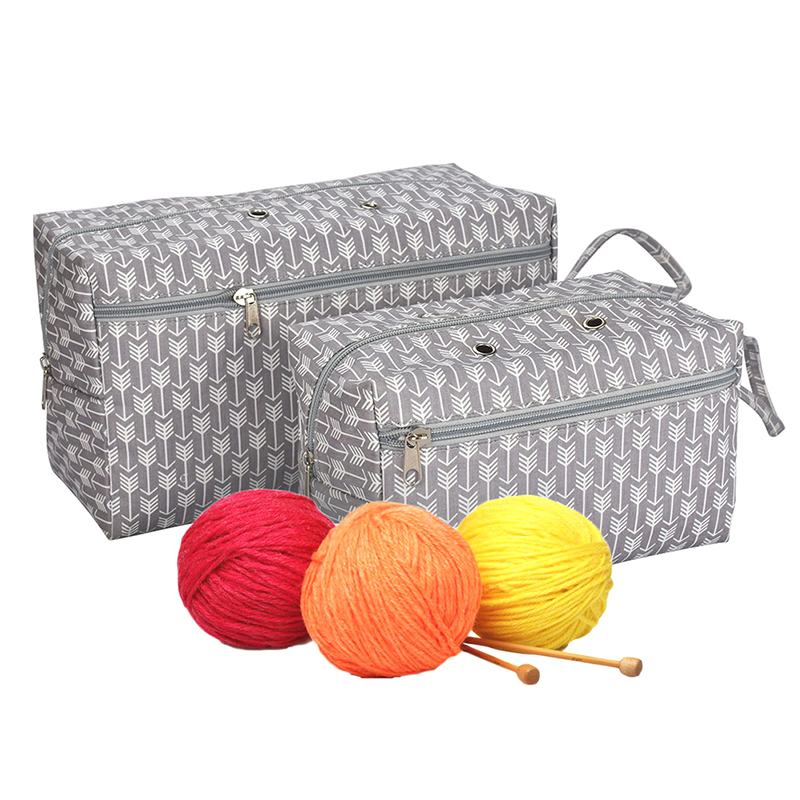 Home & Garden 2 Sizes Portable Yarn Storage Bag Organizer With Divider For Crocheting Knitting Organization Yarn Holder Tote For Travel Attractive Fashion Arts,crafts & Sewing
