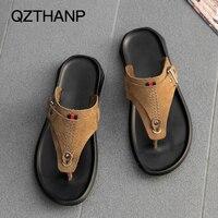 Beach Male Slippers Herringbone Slippers Casual Anti Skid Sandals Men Flats Sandals Casual Men's Shoes Open Toe Flip Flops