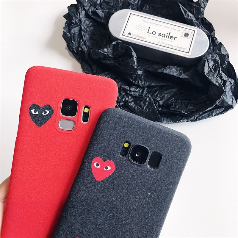 98f743de87f6 Detail Feedback Questions about Cdg Play Comme Des Garcons Design Phone Case  for samsung galaxy s8 s9 plus s6 s7 edge note 9 8 5 4 Soft Matte Silicone  Cover ...