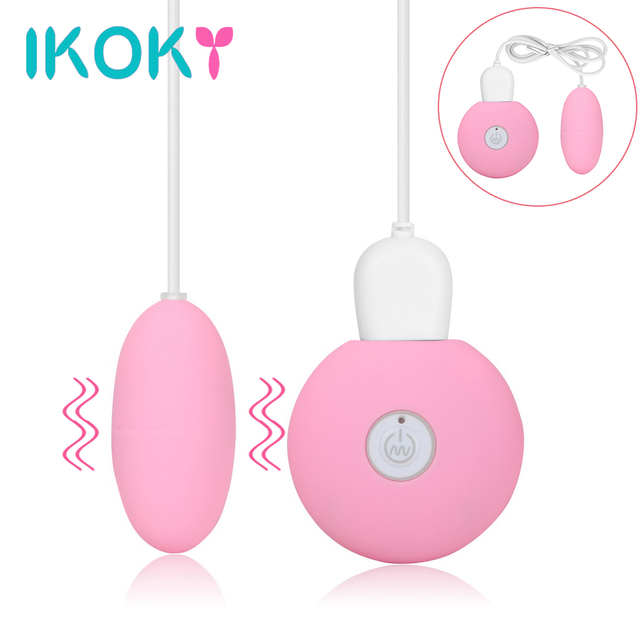 IKOKY Jump Egg Vibrators 20 Frequency Vibrating Egg Dildo Clitoris  Stimulator Sex Toys For Women Vaginal Massager USB Charging