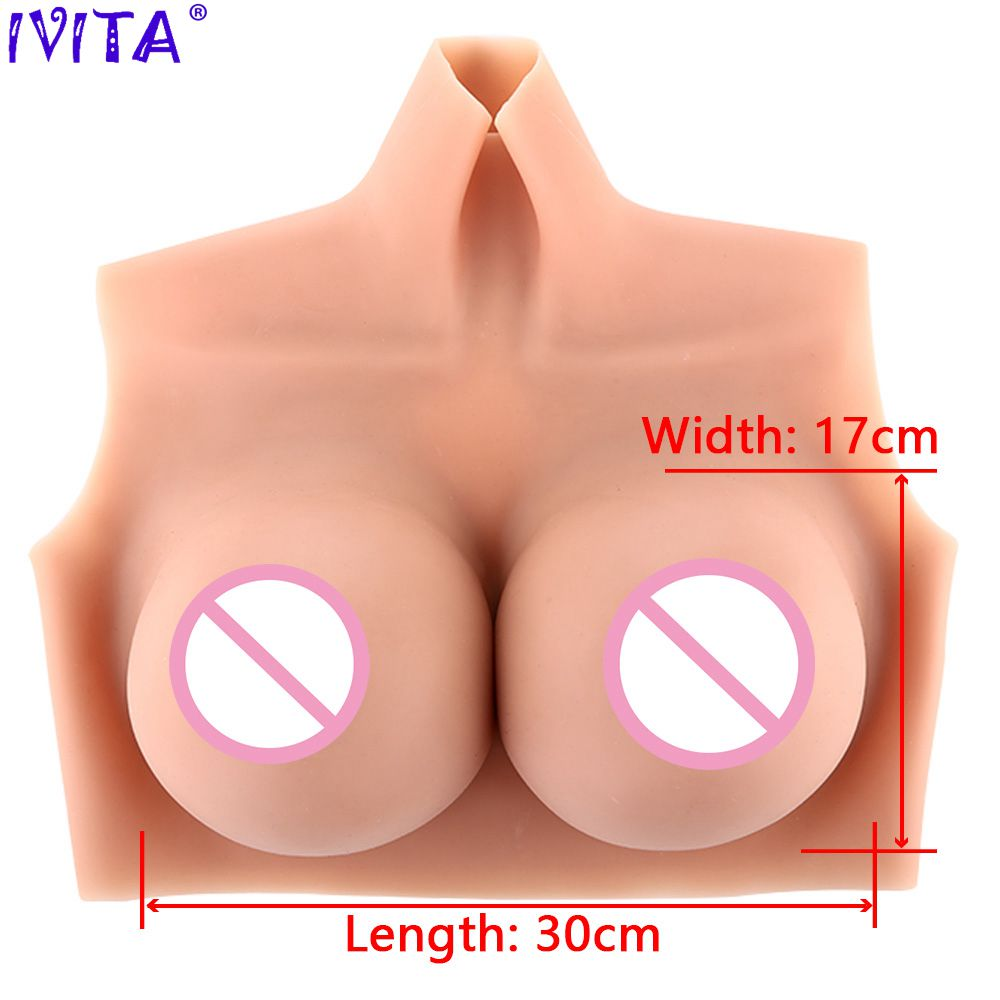 IVITA 3300g Realistic Fashion Silicone Breast Forms Artifical Fake Boobs For Crossdresser Transgender Enhancer Shemale