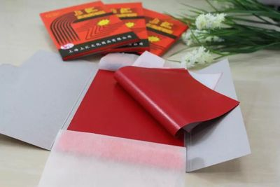 100pcs/pack 48K Double-sided High Quality Red Carbon Paper 18.5X8.5cm
