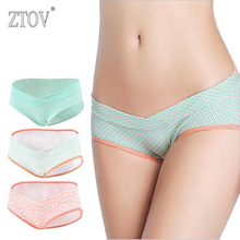 ZTOV 3PCS/Lot Cotton Maternity panties V-shaped low-Waist Pregnancy briefs underwear panties for pregnant women clothes clothing