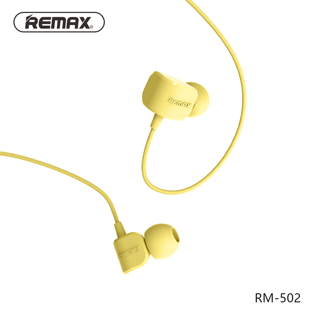 REMAX RM502 wired Clear Stereo earphones with HD Microphone angle in-ear earphone Noise isolating earhuds for mp3/iphone/xiaomi remax rm 610d stereo music in ear earphone base driven high performance earphone with microphone and in line control earphones