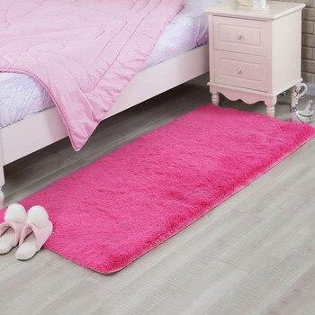 Moda Peluş Tüylü Yumuşak Halı Kabarık Alan Kilim Çocuk Yatak Odası Salonu Oturma Odası Için Kayma Dayanıklı Paspaslar Ev Gereçleri